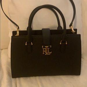 New Ralph Lauren black leather bag.